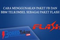 Cara Menggunakan Paket FB dan BBM Telkomsel Sebagai Paket Flash